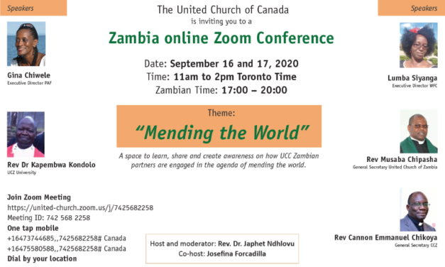 Zambia Online Conference: Mending the World